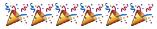 emoji: 'party popper' 'party popper' 'party popper' 'party popper' 'party popper' 'party popper' 'party popper'