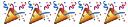 emoji: 'party popper' 'party popper' 'party popper' 'party popper' 'party popper'
