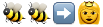 emoji:'honeybee' 'honeybee' 'black rightwards arrow' 'princess'